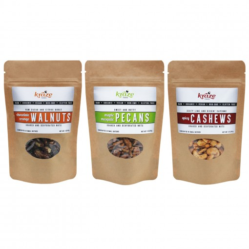 Raw Flavored Nuts Multi-pack Kraze Foods