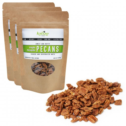 Kraze-Foods-Maple-Mesquite-Pecans-3oz-3pk-Free-Shipping