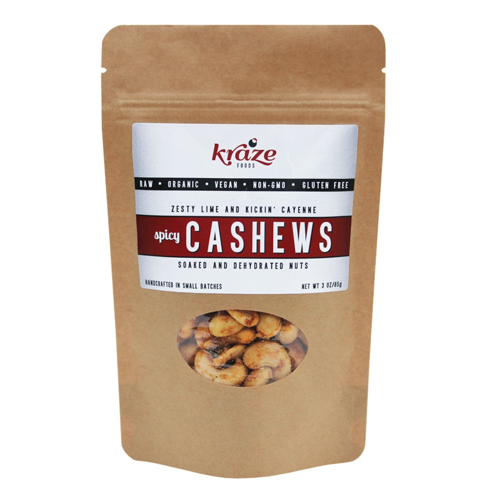 Raw Spicy Cashews Kraze Foods